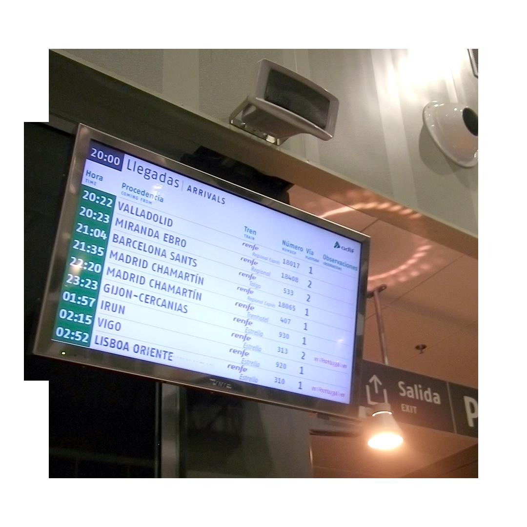 Solución de Información al Viajero para Estaciones