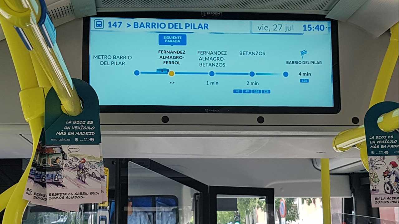 Sistema embarcado EMT Madrid