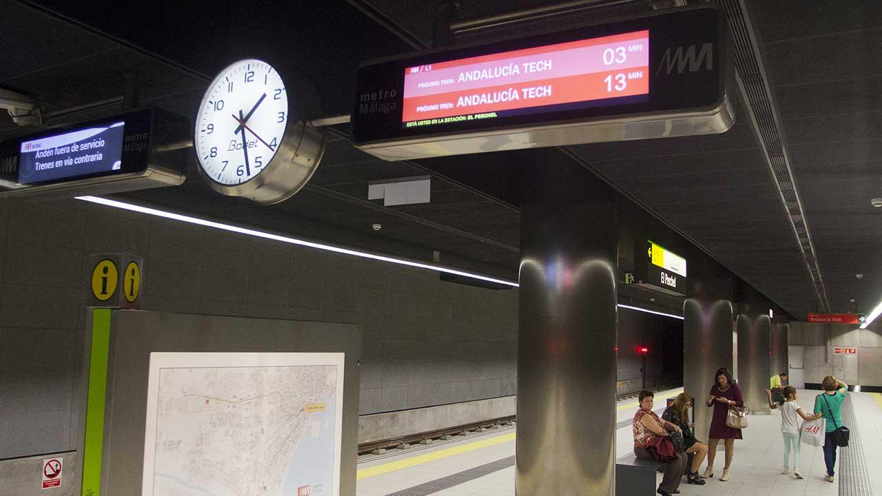 Sistema de Información al Viajero en Metro Málaga