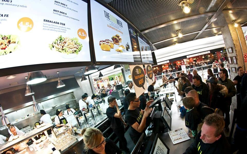 Menu Board Digital para Restaurantes de Comida Rápida